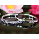 "1.5"" Purple Hoop Earrings use Austrian Crystal XE007"