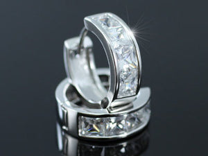 1.5 Carat CZ Cubic Zirconia Created Diamond Huggie Earrings XE031