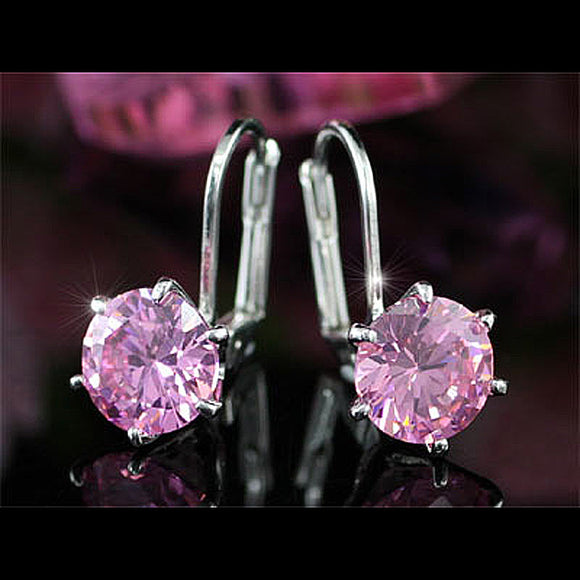 2 Carat Pink Created Sapphire Earrings XE115