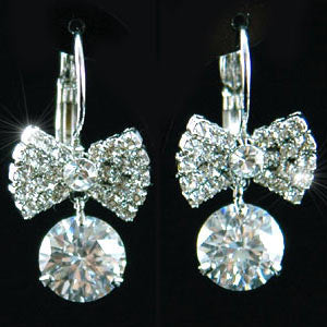 Bow Earrings use Austrian Crystal XE119