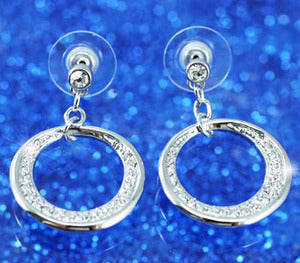 Bling Hoop Earrings use Austrian Crystal XE207