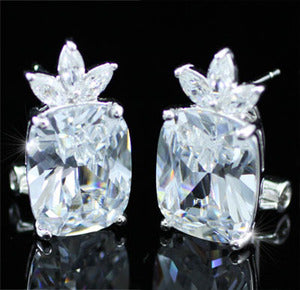 8 Carat Emerald Cut Created Diamond Earrings XE215