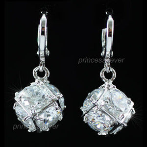 7.5 Carat Cubic Zirconia Dangle Cube Earrings XE216