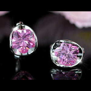 2.5 Carat Pink Created Sapphire Small Huggie Earrings XE244