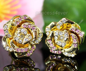 Rose Gold Plated Earrings use Swarovski Crystal XE276