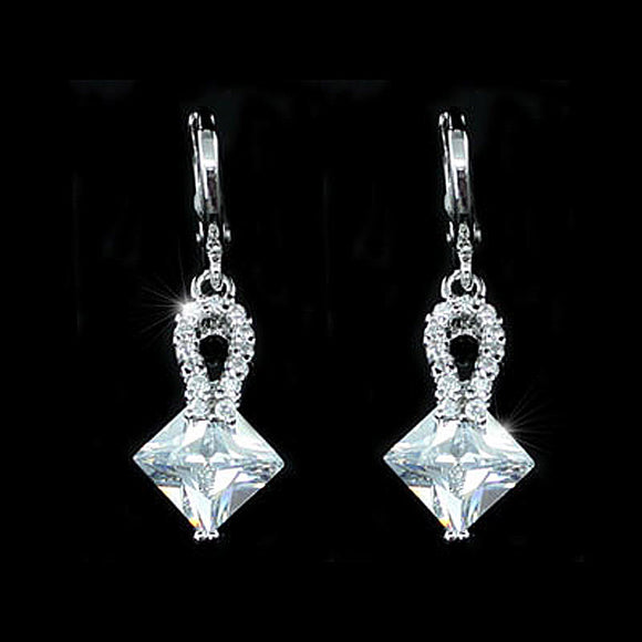 2 Carat CZ Created Diamond Dangle Earrings XE399