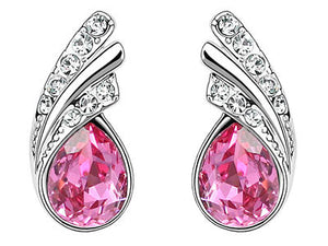 1.5 Carat Hot Pink Pear Cut Stone Earrings XE471