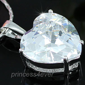 8 Carat Heart CZ Created Diamond Pendant Necklace XN085