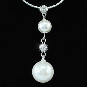 White Shell Pearl Pendant Necklace XN128
