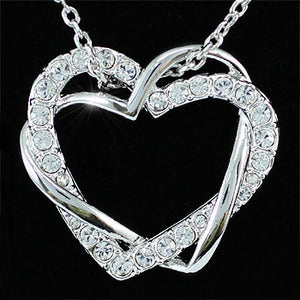Heart Pendant 18K Necklace use Swarovski Crystal XN161