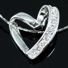 Heart Pendant Necklace use Swarovski Crystal XN195