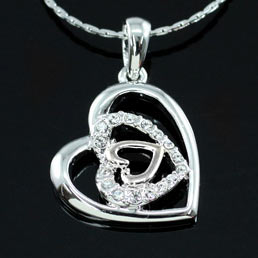 Heart Pendant Necklace use Swarovski Crystal XN199