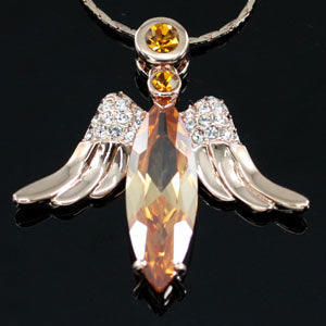 Angel 18K Rose Gold Plated Pendant Necklace XN224