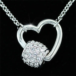 Bridal Heart Necklace use Austrian Crystal XN253