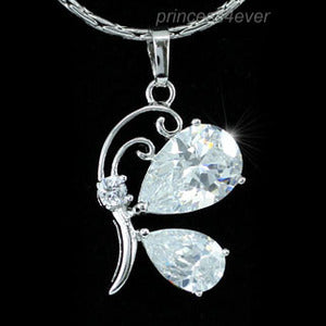 4.5 Carat Created Diamond Butterfly Pendant Necklace XN259