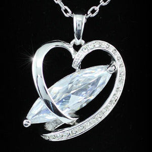 8 Carat CZ Created Diamond Heart Necklace XN271