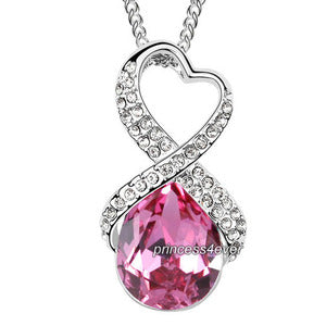 Pink 5 Carat Crystal Pendant Necklace use Swarovski Crystal XN424