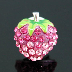 Pink Strawberry Pin Brooch use Swarovski Crystal XP004