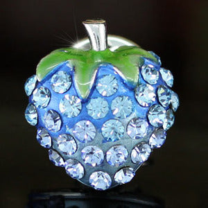 Blue Strawberry Pin Brooch use Austrian Crystal XP005