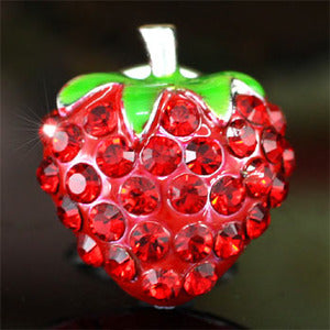 Red Strawberry Pin Brooch use Swarovski Crystal XP006