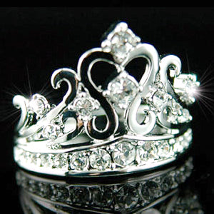 Crown Ring use Austrian Crystal XR033