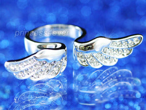 Angel Wing Ring use Austrian Crystal XR066