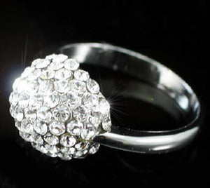 White Gold Plated Bling Ring use Swarovski Crystal XR068