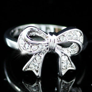 Bow Ring use Austrian Crystal XR093