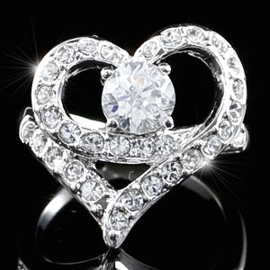 Heart Ring use Swarovski Crystal XR101