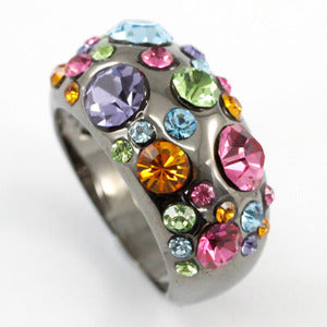Multi-Color Fashion Ring use Swarovski Crystal XR147