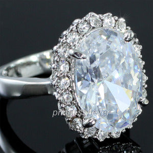 5 Carat CZ Created Diamond Ring use Austrian Crystal XR167