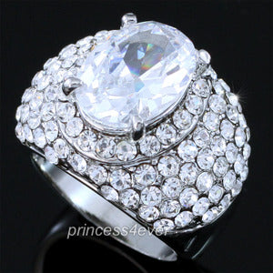 5 Carat Created CZ Cubic Zirconia Ring use Austrian Crystal XR169