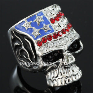 Skull Ring use Swarovski Crystal XR177