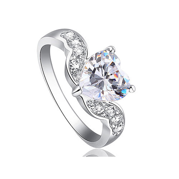 2 Carat Sparkling Heart CZ Created Diamond Ring XR194