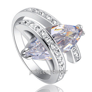 4 Carat Sparkling Marquise Cut Cubic Zirconia CZ Created Diamond Ring XR205