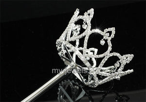 V6007 Women / Girl Scepter Magic Wand Princess Heart Silver Costumes Party