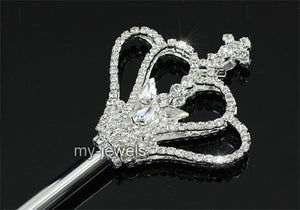 V6011 Children Girl Scepter Kids Magic Wand Silver Costumes Princess Crown