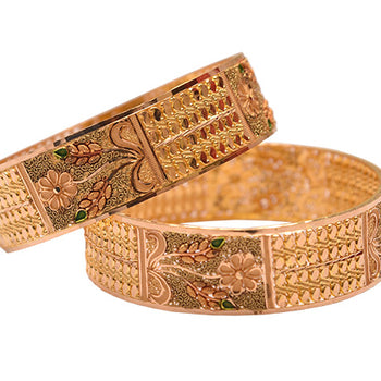 Khimji Gold Bangle- KD-CR-0009
