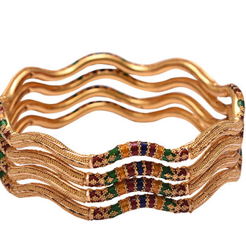 Khimji Gold Bangle- KD-CR-0011