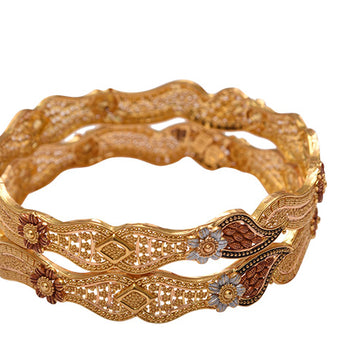 Khimji Gold Bangle- KD-CR-0014