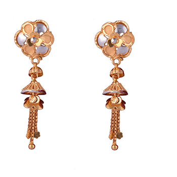 Khimji Gold Earrings- KD/ER-0001