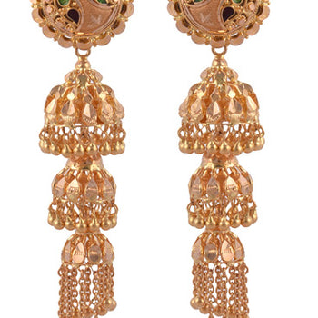 Khimji Gold Earrings- KD/ER-0004