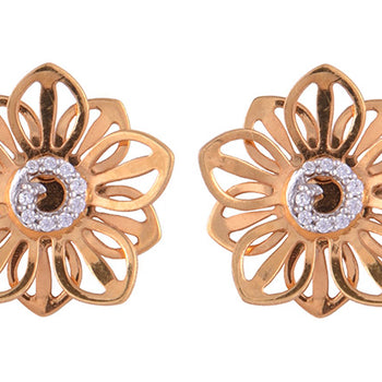 Khimji Gold Earrings- KD/ER-0031