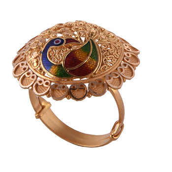 Khimji Gold Ring - KD-LRCST-0002