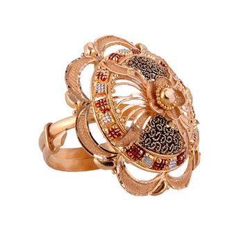 Khimji Gold Ring - KD-LRCST-0008