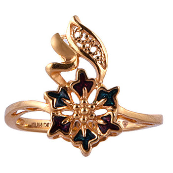 Khimji Gold Ring - KD-LRCST-0009