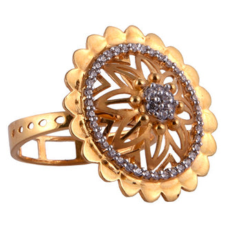 Khimji Gold Ring - KD-LRCST-0010