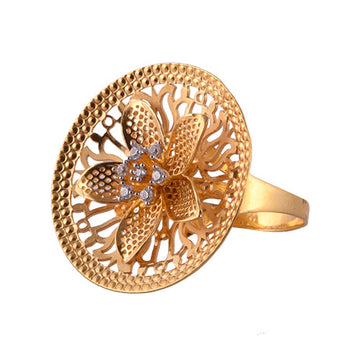 Khimji Gold Ring - KD-LRCST-0011