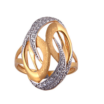 Khimji Gold Ring - KD-LRCST-0012