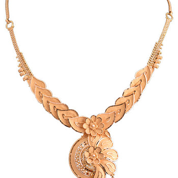 Khimji Gold Necklace- KD-NE0020